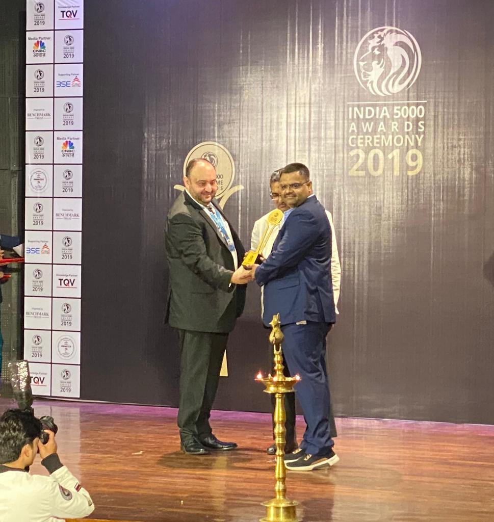 INDIA 5000 BEST MSME AWARD 2019